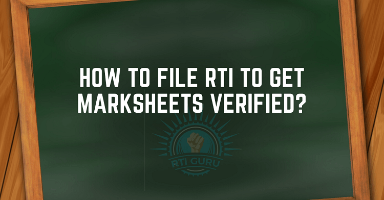 RTI for Marksheet verification