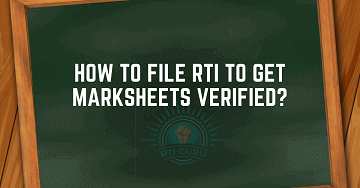 rti online second appeal or complaint marksheet verification india