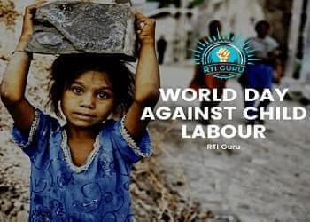 rti online second appeal or complaint world day against child labour 2020 india