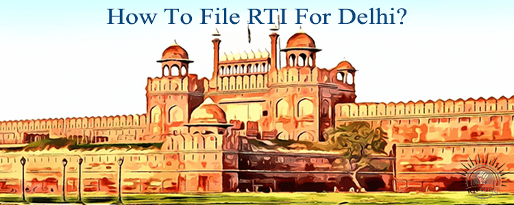 how to file rti for delhi?