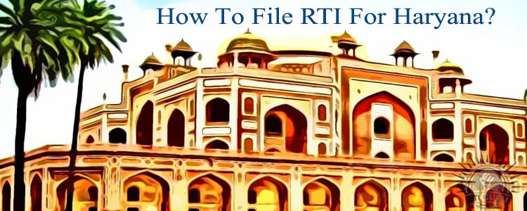 how to file rti for haryana?